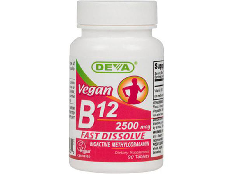 Vegan B12 fast dissolve lozenges- 2500mcg Folic Acid Free Sublingual