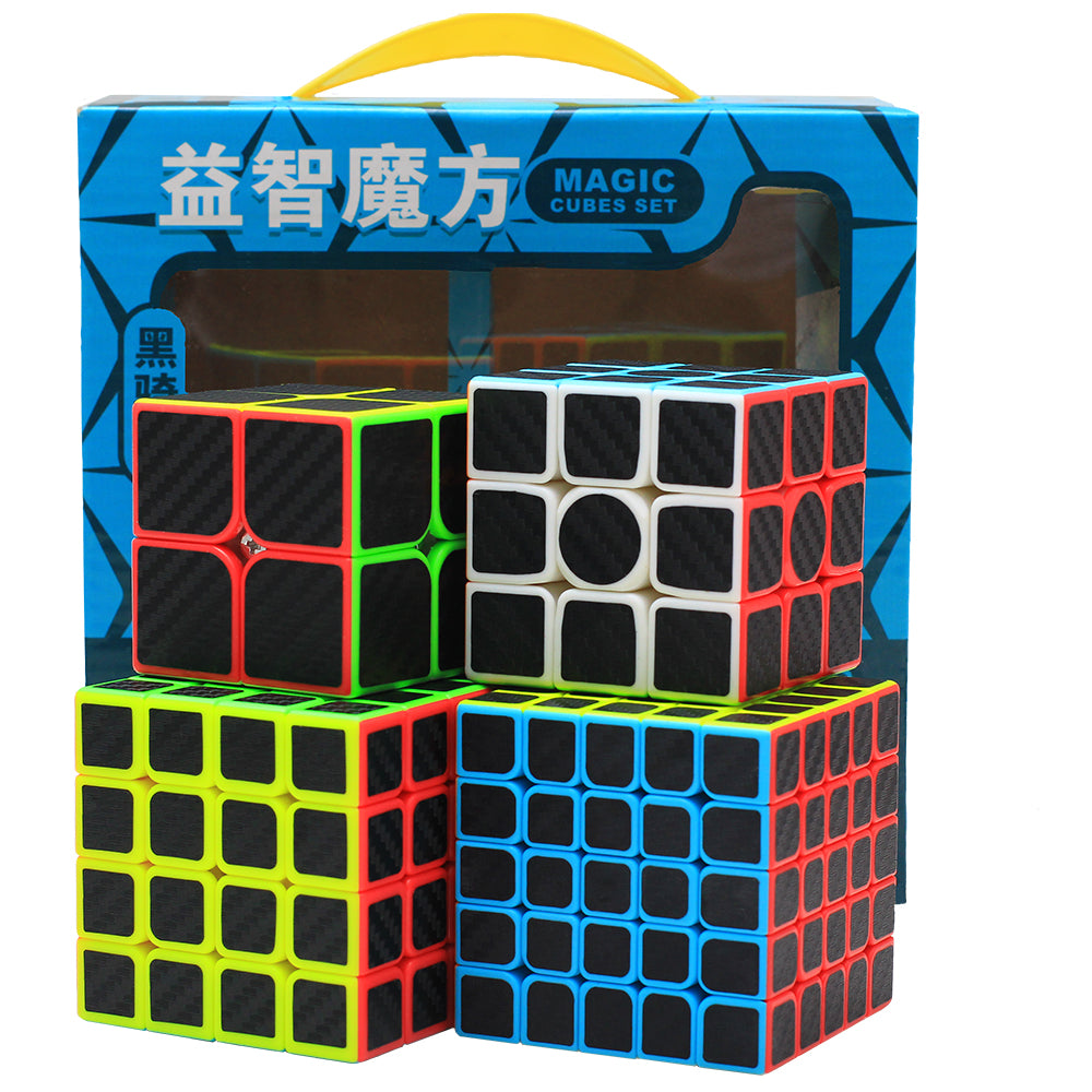 Carbon Sticker 4 Cube Bundle