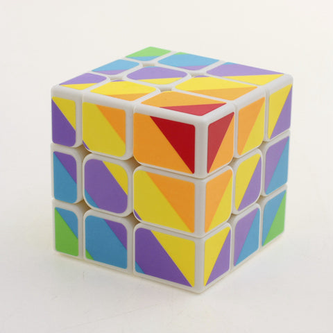 YJ Unequal 3x3x3 Rainbow Cube