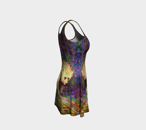 Spirit Bear flare dress