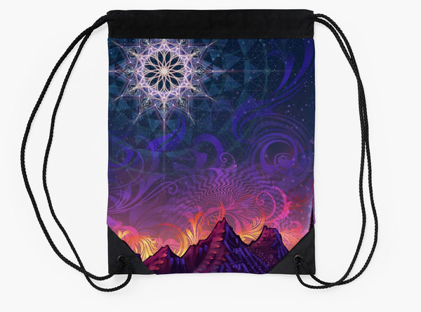 Mycelia Luna - Drawstring Backpack