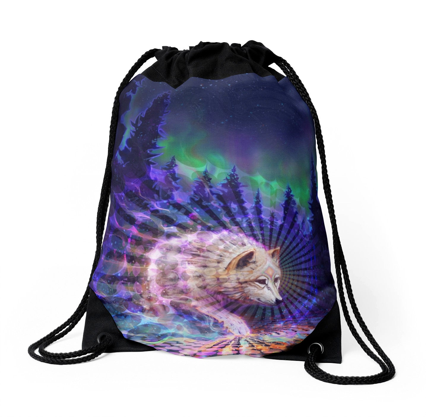 Spirit Wolf - Drawstring Backpack