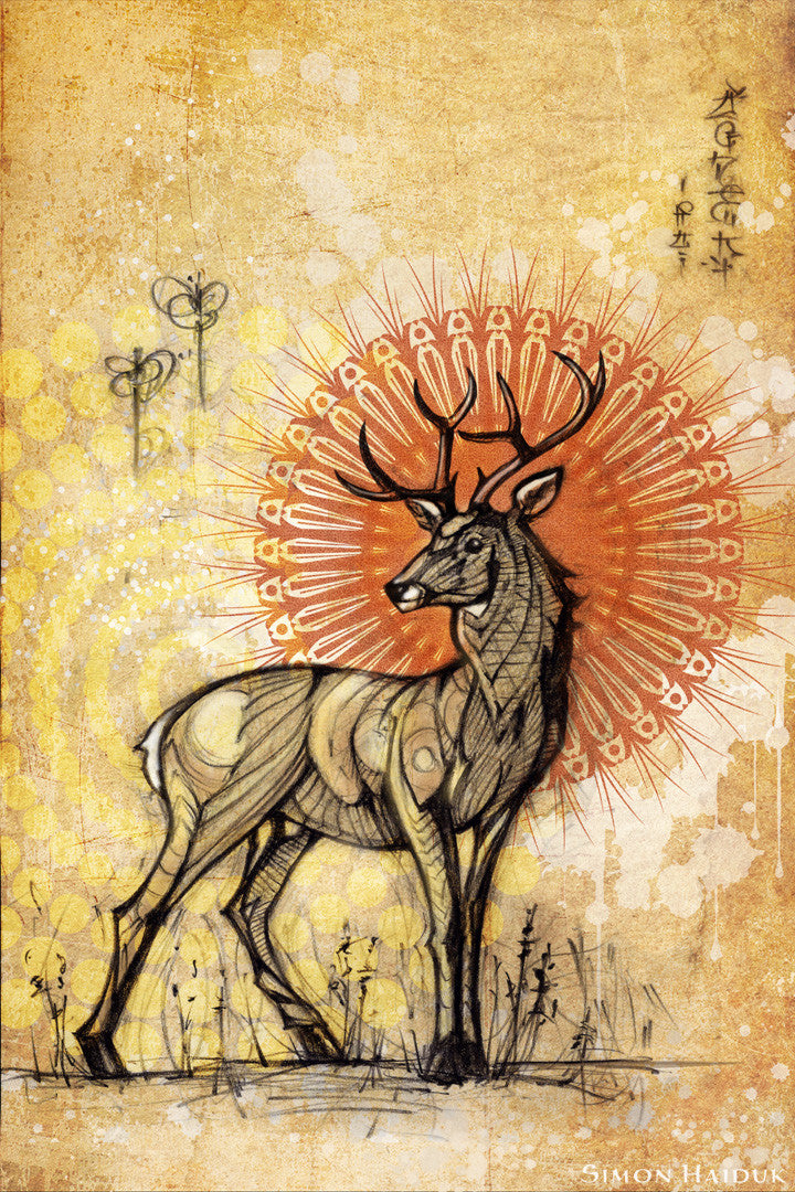 Stag Tapestry