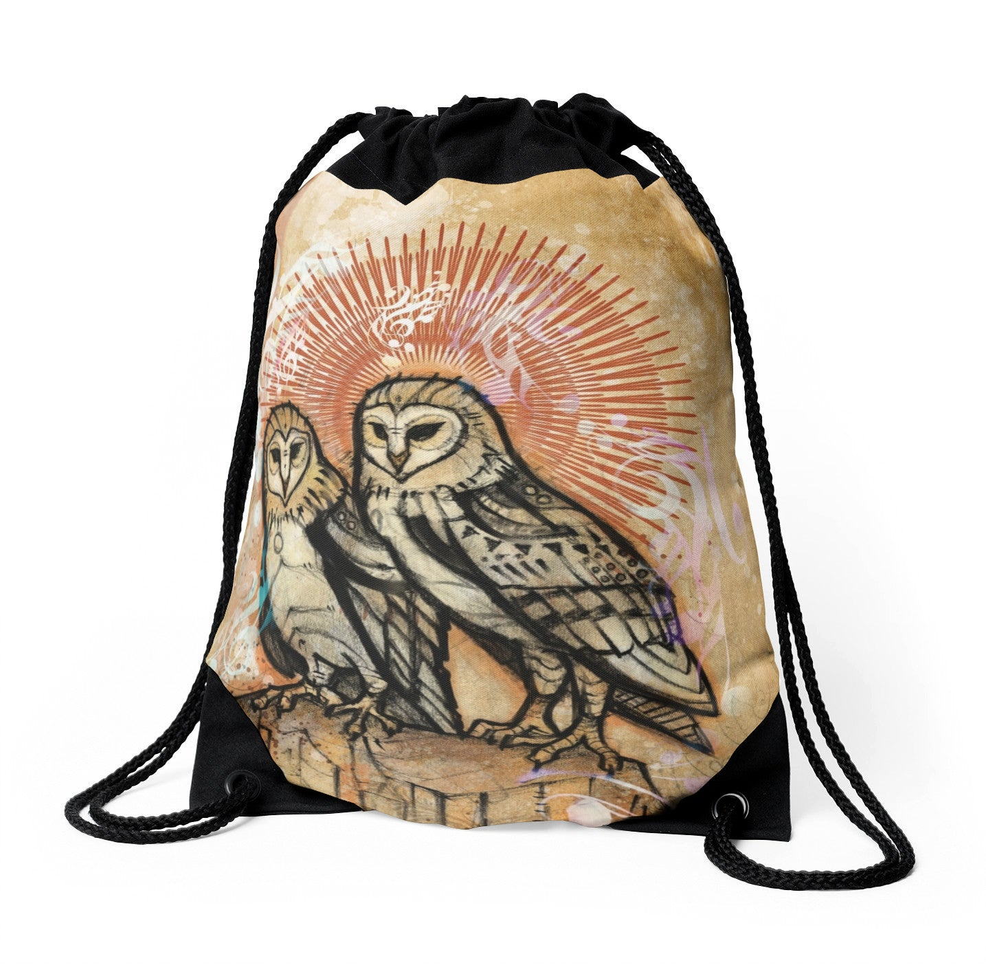 Twins - Drawstring Backpack