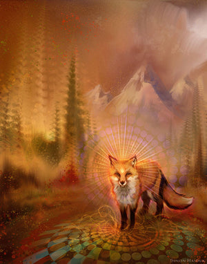 Wise Fox - Canvas Prints