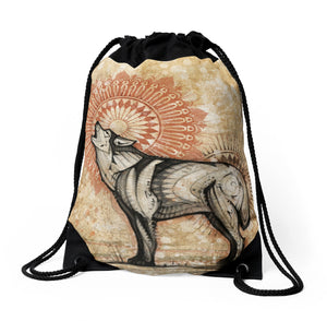 Wolf Totem - Drawstring Backpack