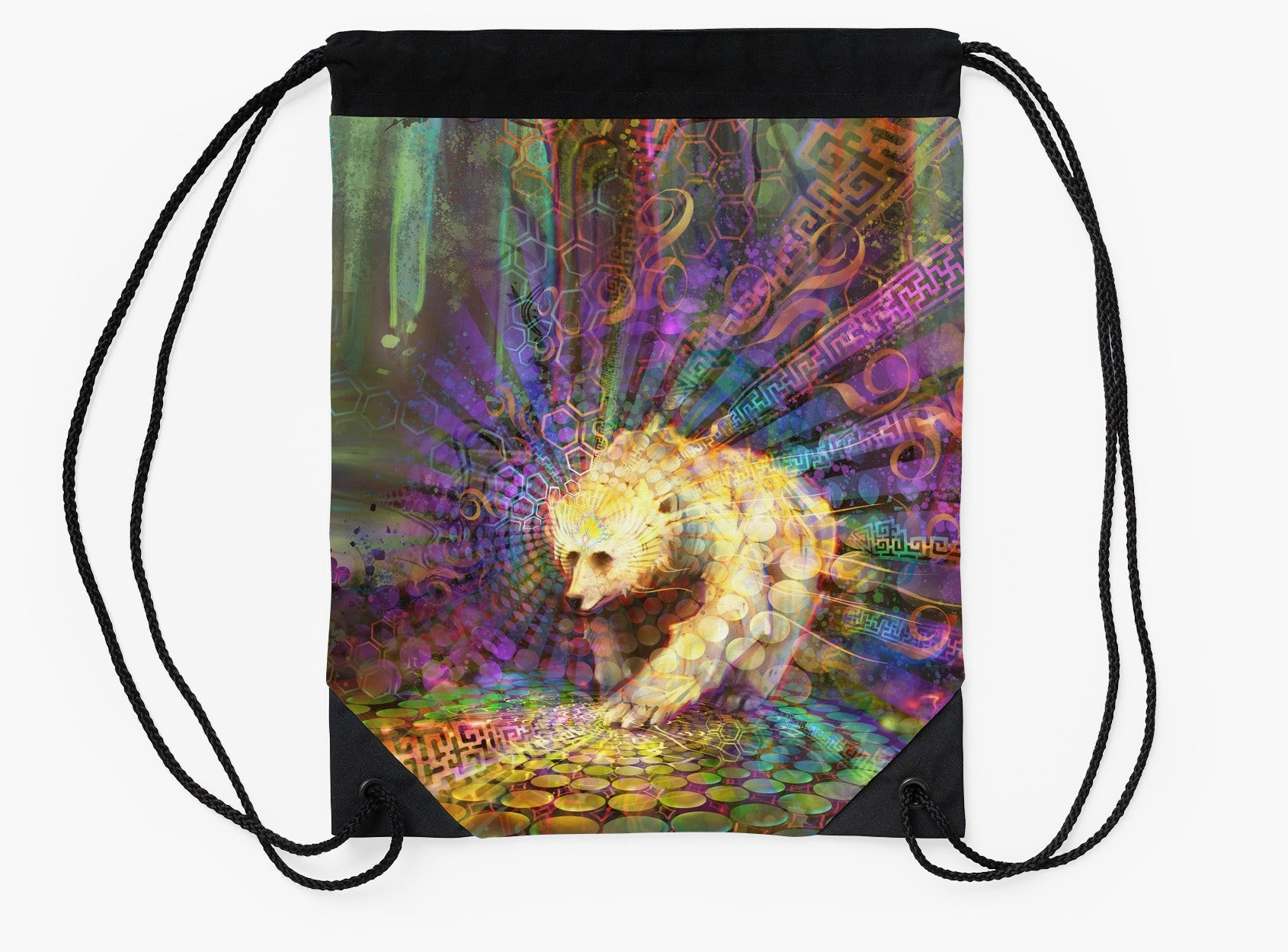 Spirit Bear - Drawstring Backpack