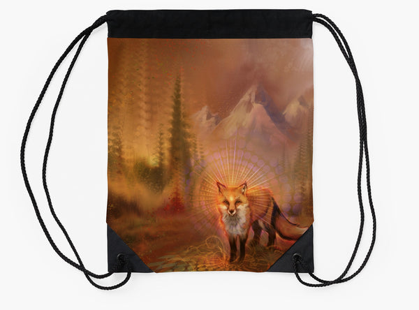 Wise Fox - Drawstring Backpack