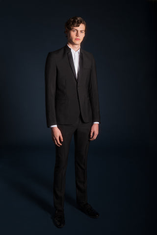SATIN CONTEMPORARY LAPEL TUXEDO JACKET