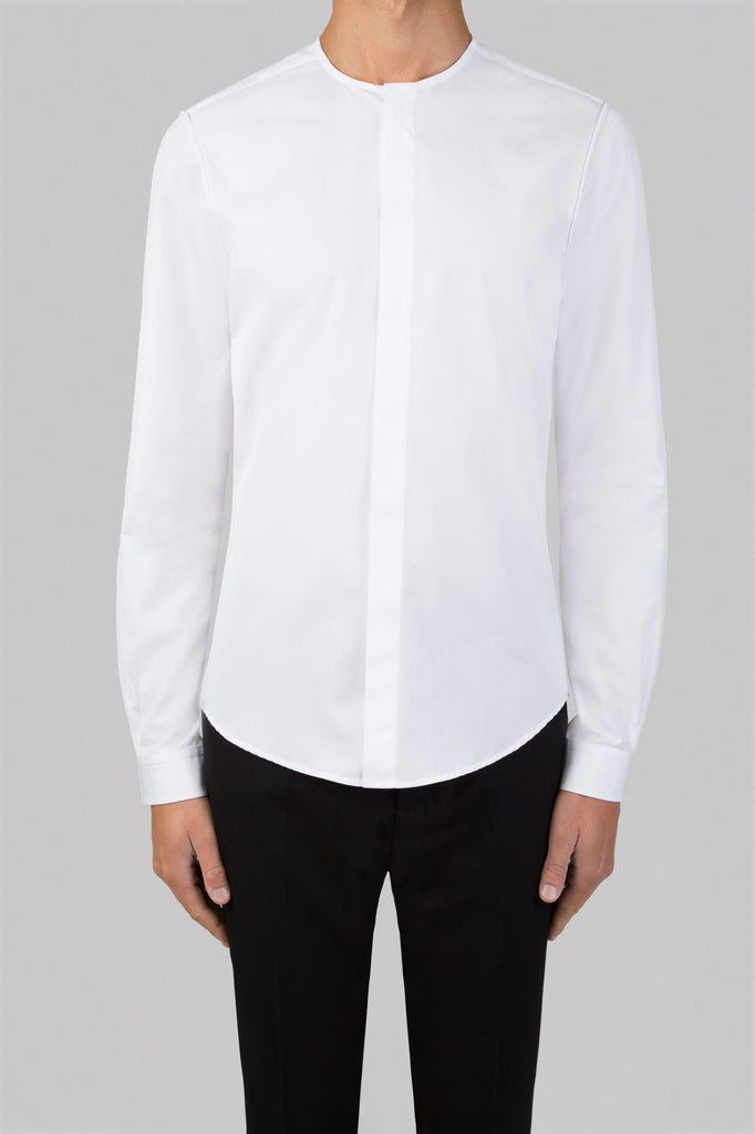NO COLLAR SHIRT