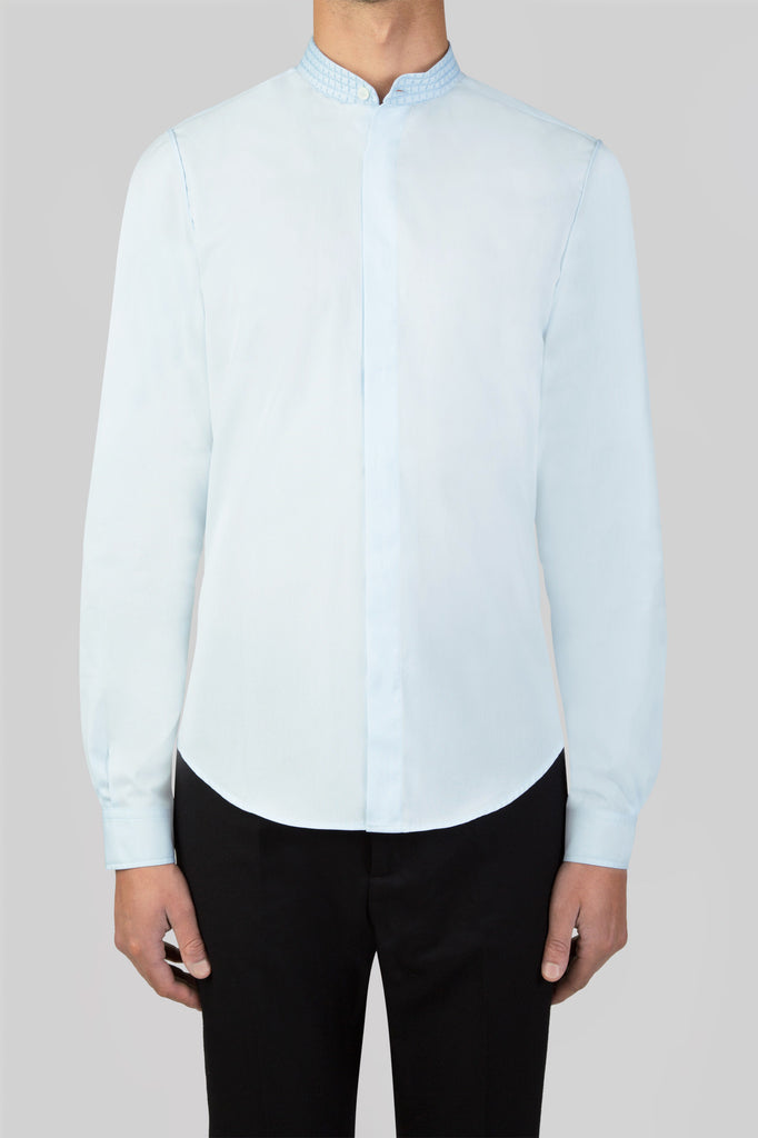 BOMBAY SHIRT WITH EMBROIDERED COLLAR