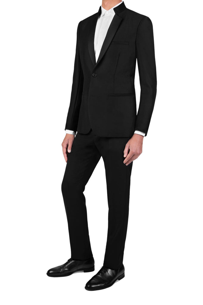SATIN CONTEMPORARY TUXEDO JACKET