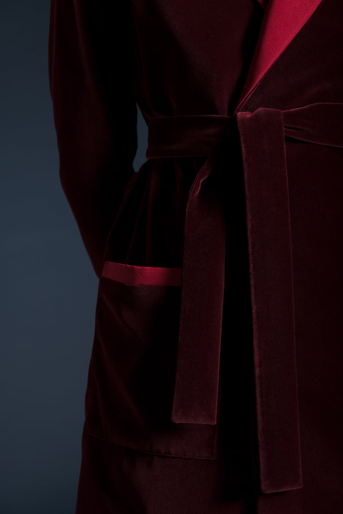 Velvet Smoking Robe