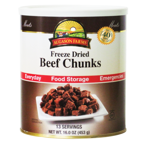 Beef Chunks Freeze Dried Real Meat Thrive In Emergency