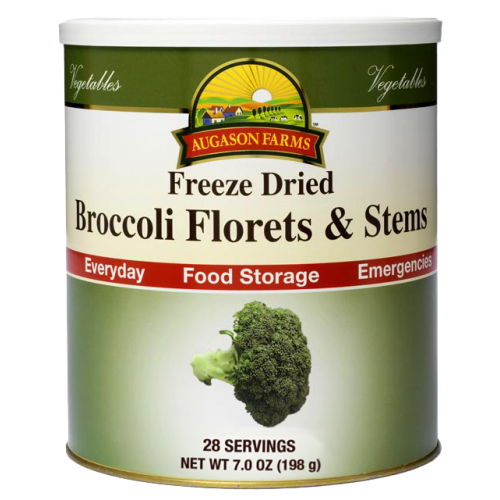 Freeze Dried Broccoli Florets & Stems