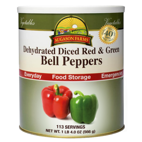 Dehydrated Diced Red & Green Bell Peppers