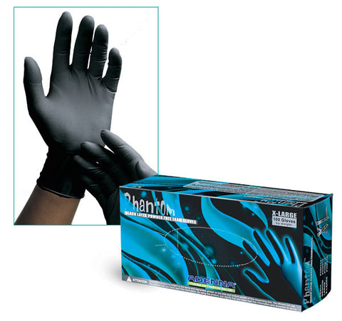 Medical Glove, Latex Black Phantom