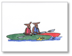 Goatcards: Kayaker