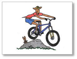 Goatcards: Mountain Biker