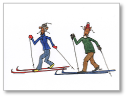 Goatcards: Cross Country Skier