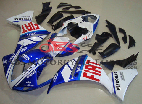 Yamaha YZF-R1 (2012-2014) Blue, White & Red FIAT Fairings