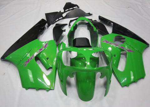 KAWASAKI NINJA ZX12R (2002-2006) GREEN, BLACK & PURPLE FAIRINGS
