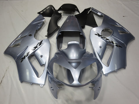 Kawasaki ZX12R (2000-2001) Silver & Black Fairings