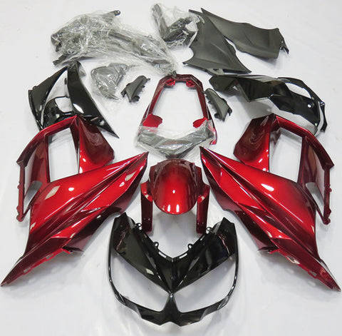 Candy Apple Red and Black fairing kit for Kawasaki NINJA 1000 2014, 2015, 2016 motorcycles