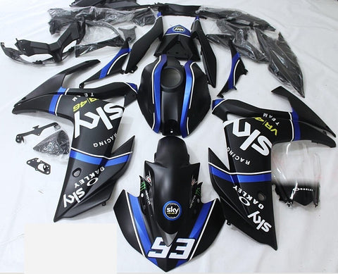 Black & Blue Sky Racing Fairing Kit for Yamaha YZF-R3 2015, 2016, 2017, 2018 motorcycles