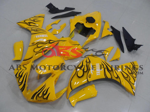Yamaha YZF-R1 (2012-2014) Yellow & Black Flame Fairings