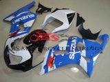Light Blue, White and Black Fairing Kit for a 2000, 2001, 2002 & 2003 Suzuki GSX-R750 motorcycle