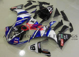Blue, White and Black Fairing Kit for a 2009, 2010 & 2011 Yamaha YZF-R1 motorcycle