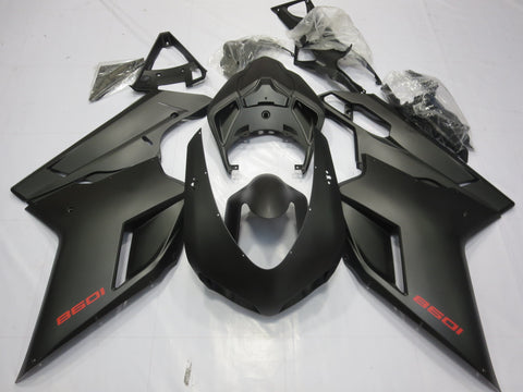 Ducati 1098 (2007-2012) Matte Black & Red Fairings