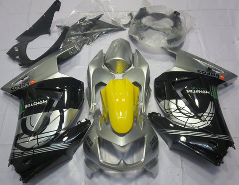 Black, Silver & Yellow fairing kit for Kawasaki NINJA 250r 2008, 2009, 2010, 2011, 2012, 2013 motorcycles