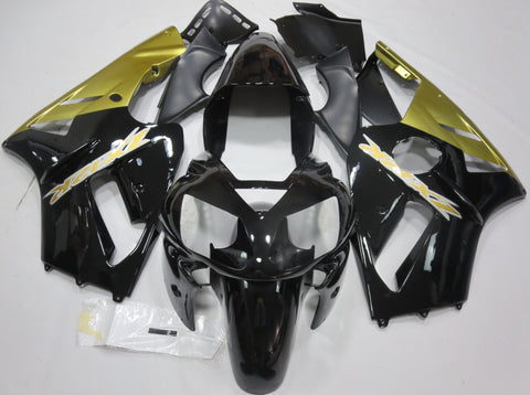 Black and Gold Fairings for Kawasaki ZX-12R 2002, 2003, 2004, 2005, 2006 motorcycles