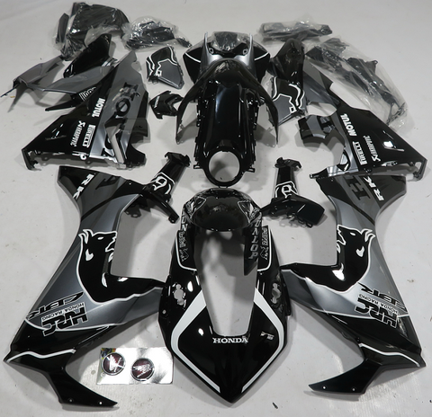 Honda CBR1000RR (20017-2020) Black & Silver Red Bull Fairings