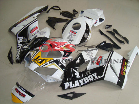 Honda CBR1000RR (2004-2005) White & Black Playboy Fairings