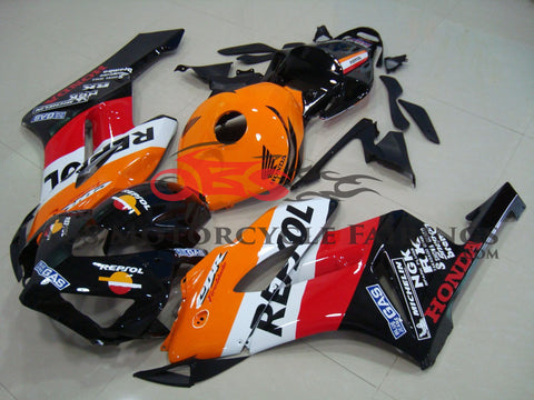 Honda CBR1000RR (2004-2005) Repsol Fairing Kit with a Black Nose Cowl