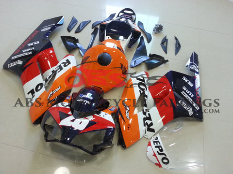 Honda CBR1000RR (2004-2005) Orange & Dark Blue Repsol RCV Fairings