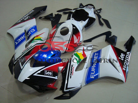 Honda CBR1000RR (2004-2005) White & Black EUROBET Race Fairings
