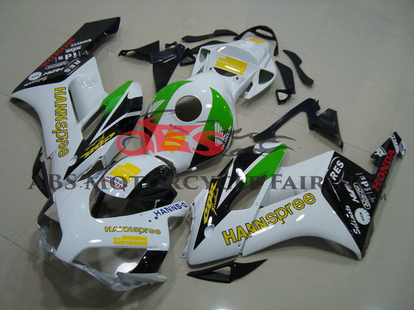 Honda CBR1000RR (2004-2005) White, Black, Green and Yellow HANNspree Fairings