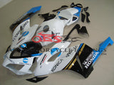 White, Black and Blue Konica Minolta Fairing Kit for a 2004 & 2005 Honda CBR1000RR motorcycle