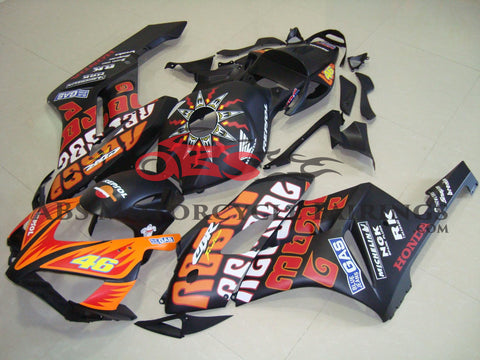 Honda CBR1000RR (2004-2005) Matte Black & Orange ROSSI Fairings