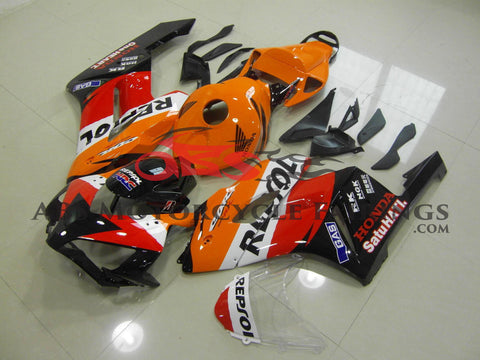 Honda CBR1000RR (2004-2005) Repsol Fairing Kit with Orange Tail Section