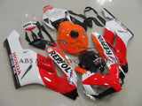 Red, White and Orange REPSOL Fairing Kit for a 2004 & 2005 Honda CBR1000RR motorcycle