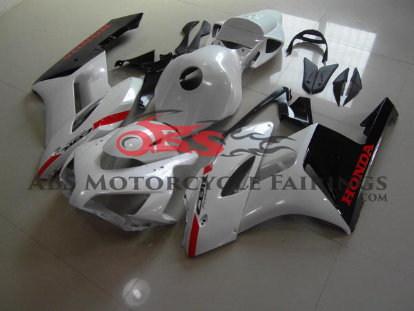 Pearl White & Black with Red 2004-2005 Honda CBR1000RR