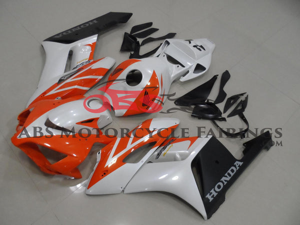 Pearl White & Orange 2004-2005 Honda CBR1000RR