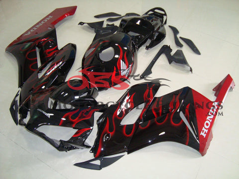Honda CBR1000RR (2004-2005) Black & Red Flame Fairings