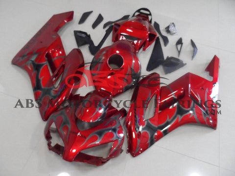Honda CBR1000RR (2004-2005) Red & Gray Tribal Flame Fairings