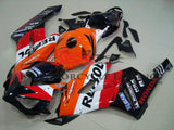 Repsol Fairing Kit with a Black Cowl for a 2004 & 2005 Honda CBR1000RR motorcycle